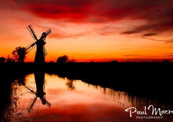 Thurne Windmill sunset