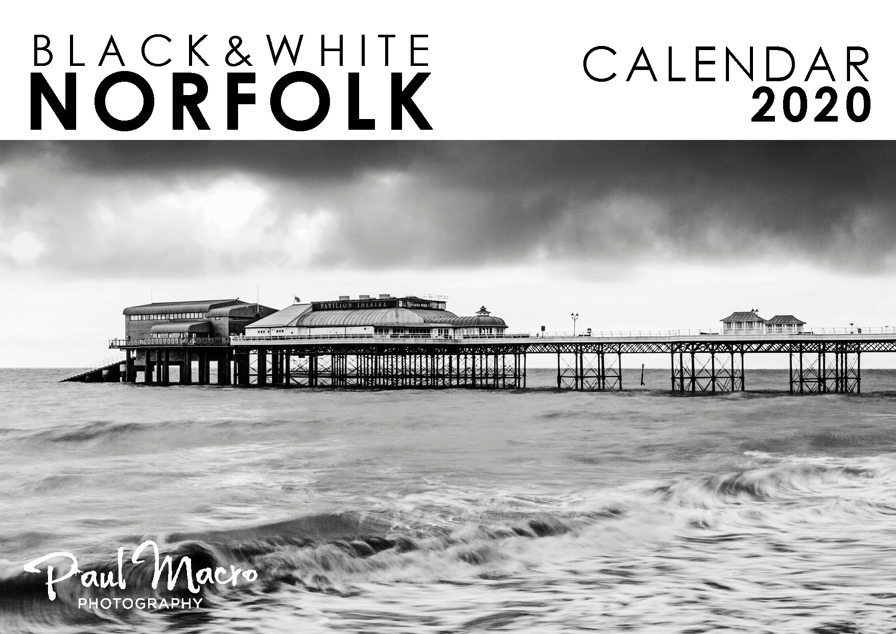 Black white norfolk 2020 calendar